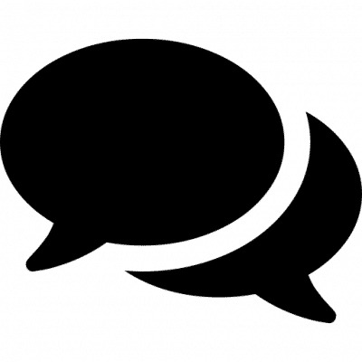 A conversation bubble