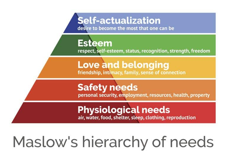 Person-Centred Counselling is underpinned by Maslow's Hierarchy of Needs.